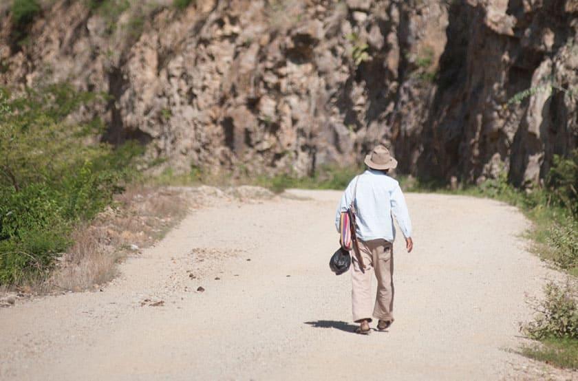 Yendo hacia el camino